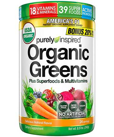 Purely Inspired Organic Greens bottle