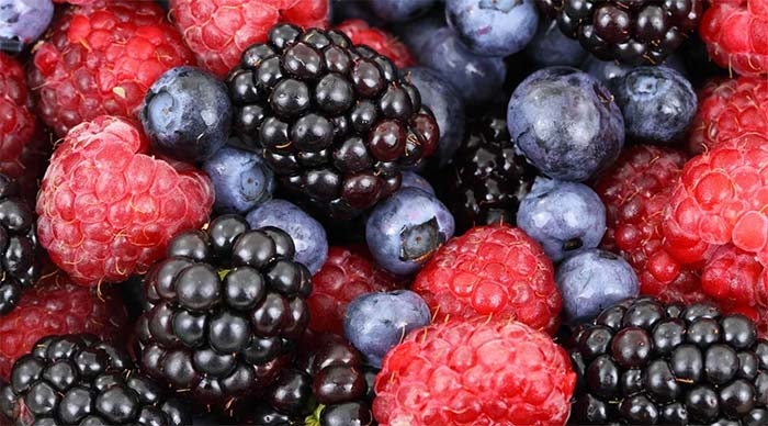 Healthy mix of berries