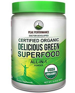 Peak Performance supergreens powder