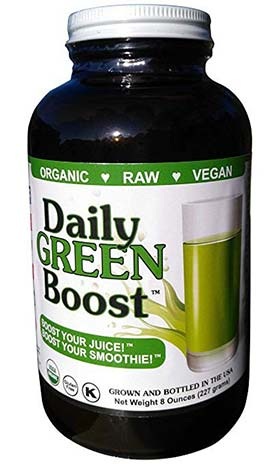 Daily Green Boost glass jar