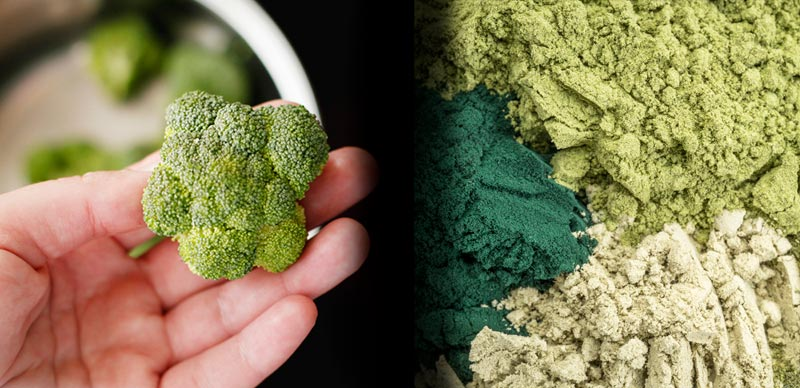 Vegetables versus Green Powders